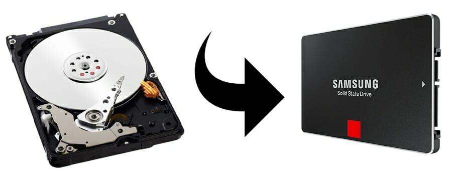 Van traditionele harde schijf naar SSD