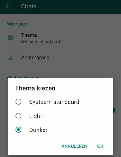 WhatsApp donkere modus activeren | Inpa Computers
