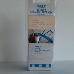 ADJ 1x3.5mm jack + 2xRCA M/M 1.5M